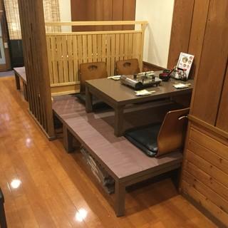 【くつろぎの空間!】テーブルと小上がりのお座敷