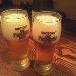 日本橋焼餃子 - 瓶ビールでビールで乾杯