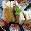 ワイン民宿鈴木園 - 料理写真:☆☆☆☆ほかほか ふかふか卵と 新鮮野菜の サンドイッチ
