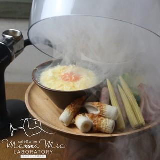 秋の新メニュー(⁎⁍̴̆Ɛ⁍̴̆⁎)♥燻製チーズフォンデュ♥