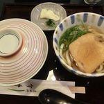 道頓堀 今井 - きつねうどん+白ごはん 2018.08.05