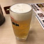 ラーメン横綱 - 2018年10月21日  生ビール中(キリン一番搾り)500円