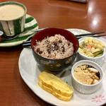 甘味処 万丸 - 料理写真:ホットコーヒー おこわセット