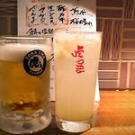 虎うま - 生ビールと生グレープフルーツサワー