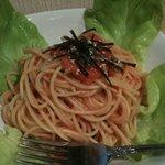 一品料理 花織 - 特製たらこスパゲティ 一口食べて納得の味!!!隠し味が奥行きのあるコクを出しています。たらこの量もハンパなくて、大満足のタラスパでした。