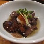 小判寿司 - 付き出し(キノコといくらのおろし)