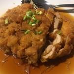 福盈門 - 若鶏の唐揚げの特製ソースかけ