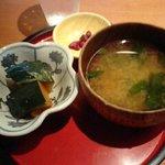 ネイバーフッドキッチン レン - ランチ☆セットのお汁と小鉢