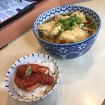 久丸 - かしわうどん&本鮪漬け('18/10/24)