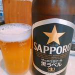 四川担々麺 いぶし銀 - 瓶ビール 500円