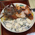 得仙 - 伊勢海老 と 牡蠣