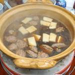 得仙 - 鳥つくね と 豆腐 と エノキ茸