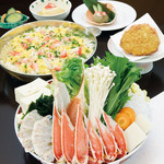 北海道かに将軍 - 料理写真:ズワイかにすきセット 蟹宴(かいえん)