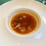 95145850 - ちょっと量が少なかったスープ。家庭的で優しいミネストローネです。