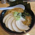 麺や 笑味寿 - 醤油ラーメン&トッピングチャーシュー2018.10.18
