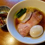 寿製麺 よしかわ - 川越醤油らーめん鶏特製 1000円
