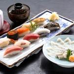 旭鮨総本店 - とらふぐ刺身とにぎり鮨