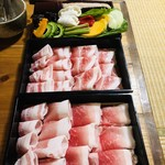 95157370 - お肉(黒琉豚アグー)とお野菜