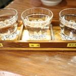 たたき亭 - 日本酒飲み比べです☆2018-1021訪問