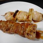 鳥清 - 豚バラ140円、ねぎ肉120円