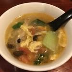 中華料理 八戒 - カリィについてくるスープ