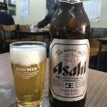 みやこ食堂 - ドリンク写真:とりあえず瓶ビールから