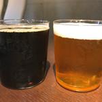 Beer&Beef Dinning Cariage - TAP-3 ◉左:8.インペリアル タニラ Regular 税込み950円 ◉右:4.スタンリーズ・トリート Regular 税込み950円 TAP-4は撮りはぐりました