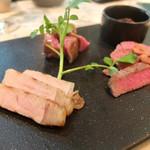 マーサー カフェ - お店任せのお肉3種盛り合わせ