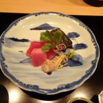 祇園 淺田屋 - お造り さわらの藁炊きとシビ
