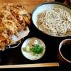 手打ち蕎麦 楽庵 - 料理写真:かき揚げそば(冷)