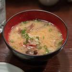 魚浪人 - 2018.10 金目鯛の味噌汁(お通し)