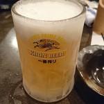 花くじら - キンキンに冷えてやがる!生ビール