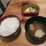さくら鍋 鶴我 - ご飯セット