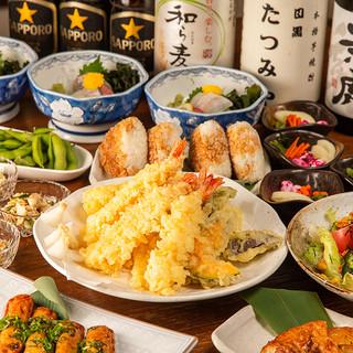 店主自ら厳選した鮮魚&天ぷらの宴会コース3,980円~