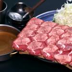 武蔵 - 料理写真:武蔵おススメの牛タンしゃぶしゃぶ