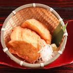 ざる豆腐の厚揚げ