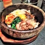 米沢亭 炭火苑 - [料理] 石焼きカルビビビンバ 全景♪w