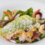 北海道イタリアン ミアボッカ - チーズたっぷり ぷりぷり海老とアボカドのサラダ