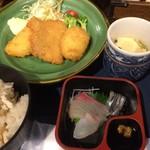 淡路島と喰らえ - 淡路定食-小刺身や茶碗蒸し付