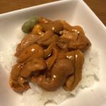 うに むらかみ - ウニ丼(半分の量です)(新宿タカシマヤ「大北海道展」)