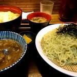 95215023 - 鴨汁つけ麺  600円、かつ丼460円