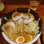 めん和正 - 中華麺大盛(麺2玉※360g)+チャーシュー+味玉+のり