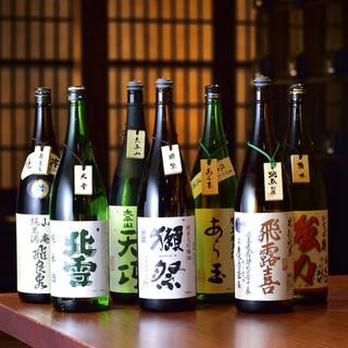 新鮮な海鮮と相性が抜群の日本酒を多種ご用意!