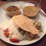 山食音 - 南インド定食、1200円