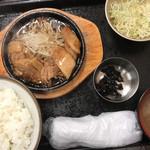 95219584 - ランチの生姜焼き定食