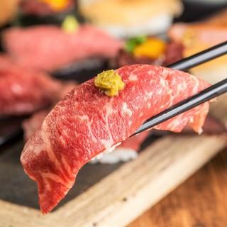 【期間限定】とろける黒毛和牛寿司3500円食べ放題!