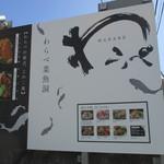 わらべ菜魚洞 - 看板