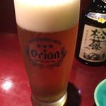 旬菜処 びいどろ - 旬菜処びいどろ(オリオン生ビール)