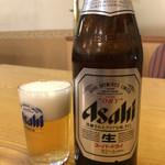 八洋 - アサヒ中瓶♪ 450円