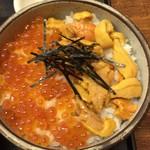 魚繁 - ウニ・イクラ丼